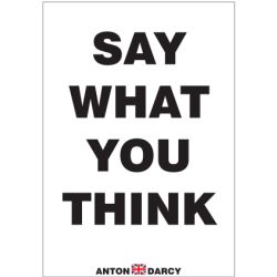how to say what you think